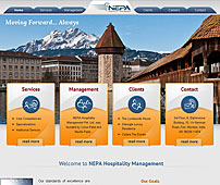 Website of Hospitality Management Services