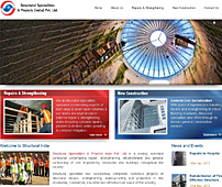 Web Design of Construction Company