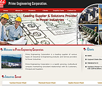 Web design for Industrial Products Supplier