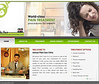 Web design of Pain Clinic