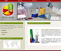 Website for Marketing of Pharmaceutical Products